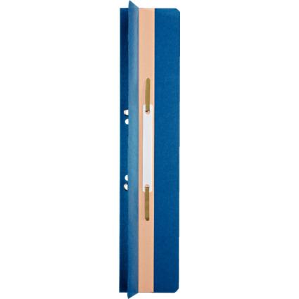 LEITZ Heftrücken, 65 x 305 mm, Manilakarton, blau, mit