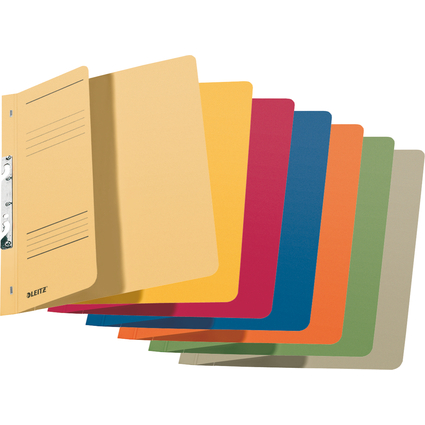 LEITZ Einhakhefter, DIN A4, Manilakarton, farbig sortiert