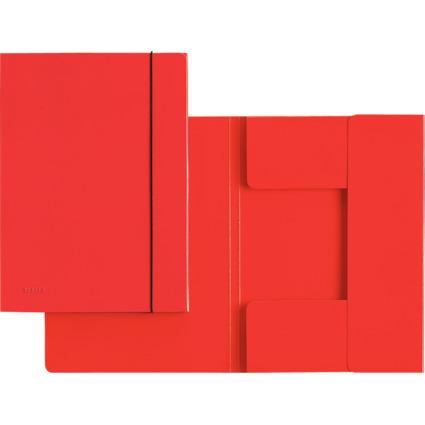 LEITZ Sammelmappe, DIN A4, Hartpappe 0,7 mm, rot