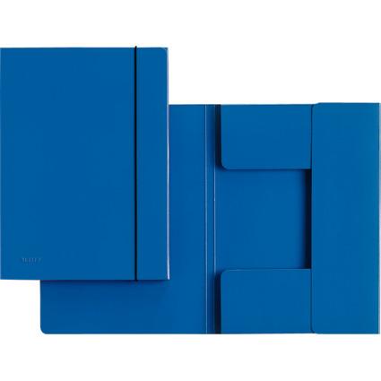 LEITZ Sammelmappe, DIN A4, Hartpappe 0,7 mm, blau