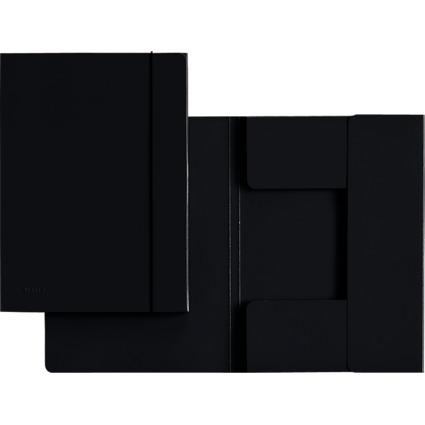 LEITZ Sammelmappe, DIN A4, Hartpappe 0,7 mm, schwarz
