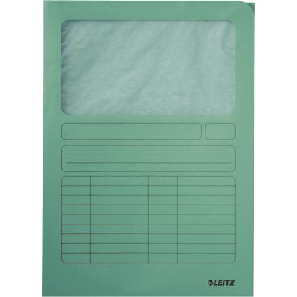 LEITZ Sichtmappe, DIN A4, Karton, mit Sichtfenster, hellgrün