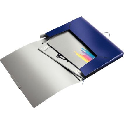 LEITZ Ablagebox Style, DIN A4, PP, titan-blau
