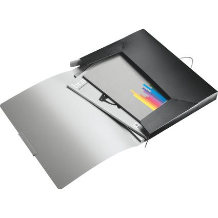 LEITZ Ablagebox Style, DIN A4, PP, satin-schwarz