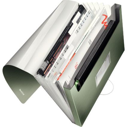 LEITZ Projektmappe Style, A4, PP, 6 Fächer, seladon-grün