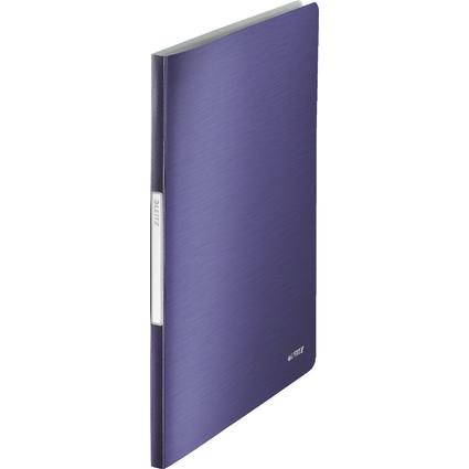 LEITZ Sichtbuch Style, A4, PP, mit 20 Hüllen, titan-blau