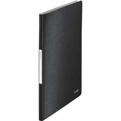 LEITZ Sichtbuch Style, A4, PP, mit 40 Hüllen, satin-schwarz
