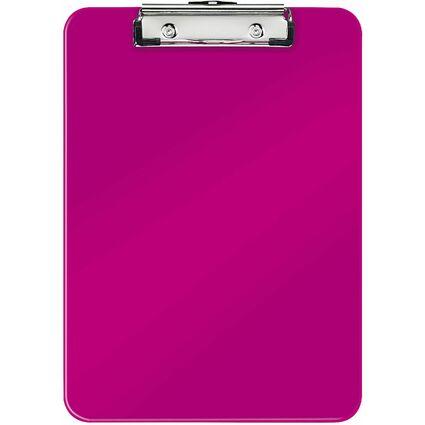 LEITZ Klemmbrett WOW, DIN A4, Polystyrol, pink-metallic