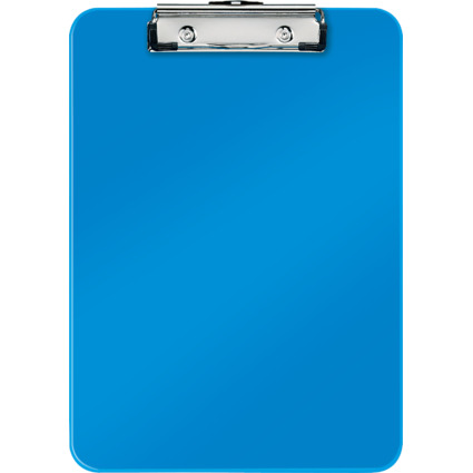 LEITZ Klemmbrett WOW, DIN A4, Polystyrol, blau-metallic