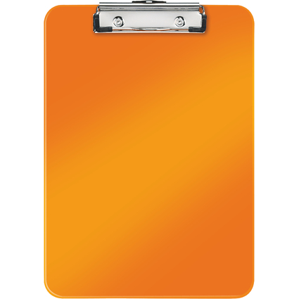 LEITZ Klemmbrett WOW, DIN A4, Polystyrol, orange-metallic