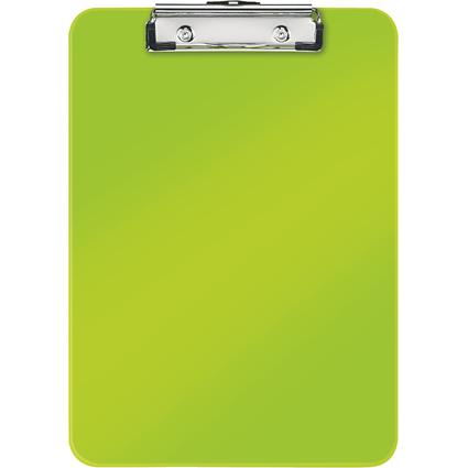 LEITZ Klemmbrett WOW, DIN A4, Polystyrol, grün-metallic