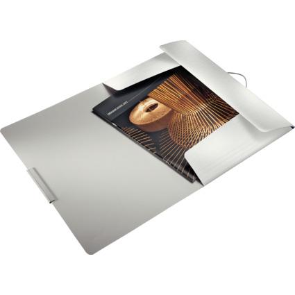 LEITZ Eckspannermappe Style, DIN A4, PP, arktik-weiß