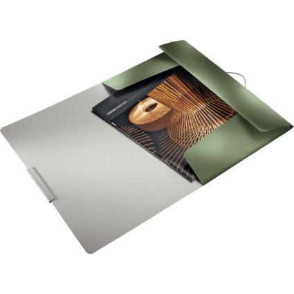 LEITZ Eckspannermappe Style, DIN A4, PP, seladon-grün