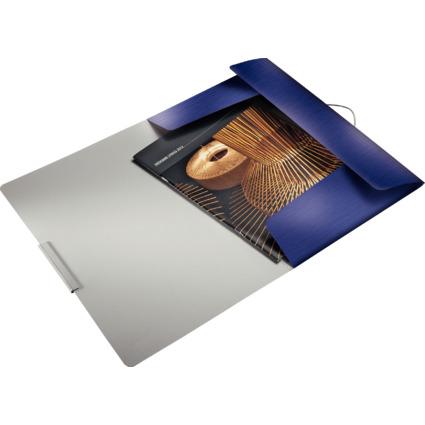 LEITZ Eckspannermappe Style, DIN A4, PP, titan-blau