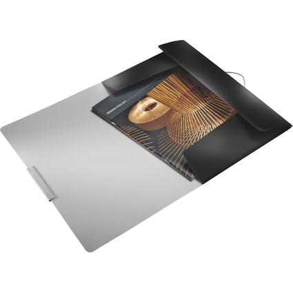 LEITZ Eckspannermappe Style, DIN A4, PP, satin-schwarz