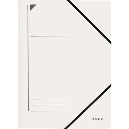 LEITZ Eckspanner, DIN A4, Colorspankarton 450 g/qm, weiß