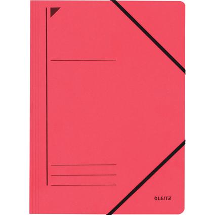 LEITZ Eckspanner, DIN A4, Colorspankarton 450 g/qm, rot