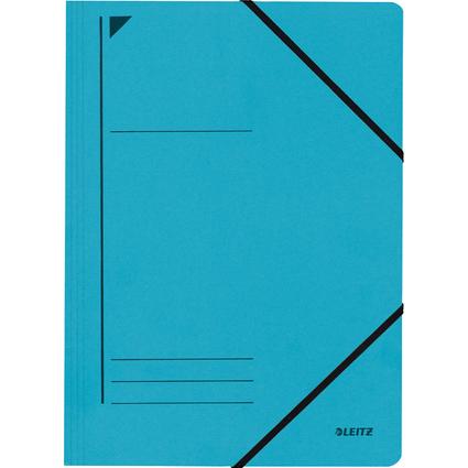 LEITZ Eckspanner, DIN A4, Colorspankarton 450 g/qm, blau