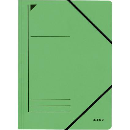 LEITZ Eckspanner, DIN A4, Colorspankarton 450 g/qm, grün