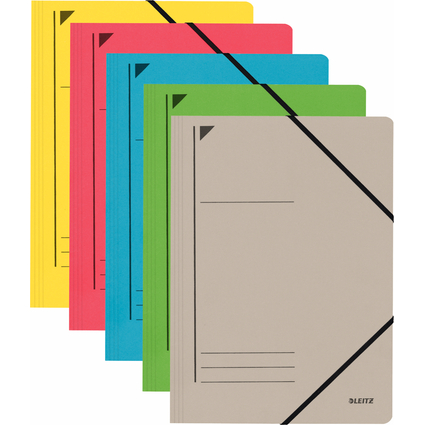 LEITZ Eckspanner, DIN A4, Colorspankarton 450 g/qm, sortiert