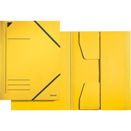 LEITZ Eckspannermappe, DIN A4, Karton 320 g/qm, gelb