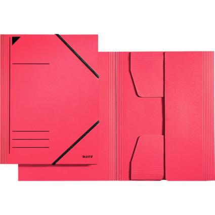 LEITZ Eckspannermappe, DIN A4, Karton 320 g/qm, rot