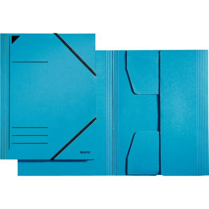 LEITZ Eckspannermappe, DIN A4, Karton 320 g/qm, blau