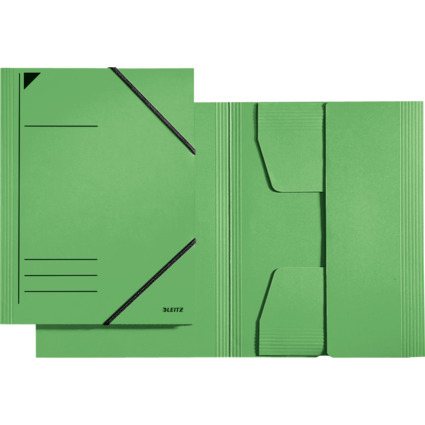 LEITZ Eckspannermappe, DIN A4, Karton 320 g/qm, grün