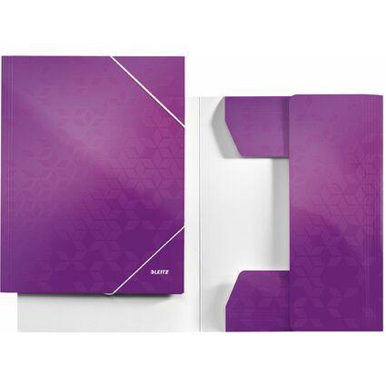 LEITZ Eckspannermappe WOW, DIN A4, Karton, violett