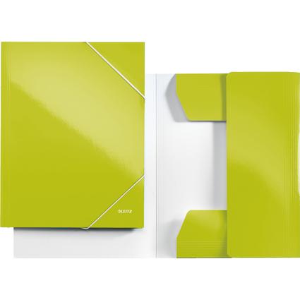 LEITZ Eckspannermappe WOW, DIN A4, Karton, grün-metallic