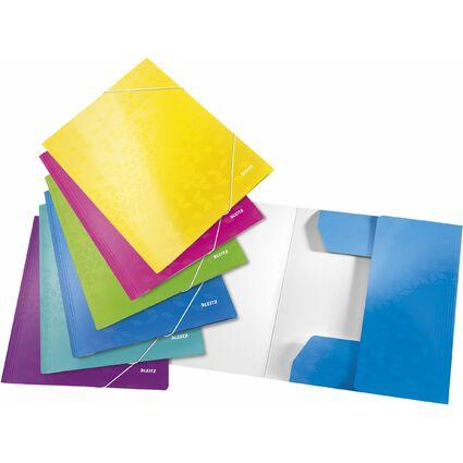 LEITZ Eckspannermappe WOW, DIN A4, Karton, farbig sortiert