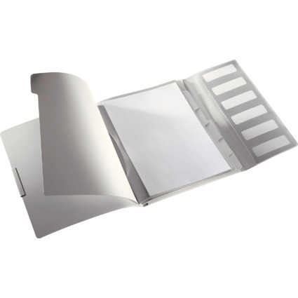 LEITZ Ordnungsmappe Style, A4, PP, 6 Fächer, arktik-weiß