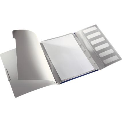 LEITZ Ordnungsmappe Style, A4, PP, 6 Fächer, titan-blau