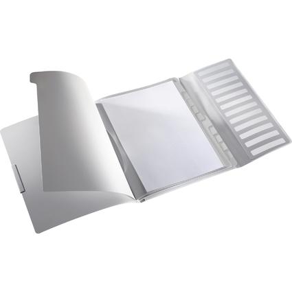 LEITZ Ordnungsmappe Style, A4, PP, 12 Fächer, arktik-weiß