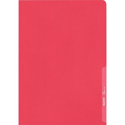 LEITZ Sichthülle Standard, A4, PP, genarbt, rot, 0,13 mm