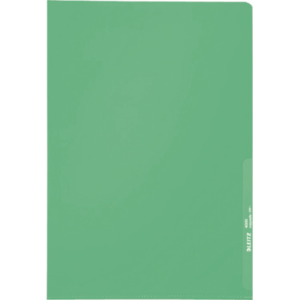 LEITZ Sichthülle Standard, A4, PP, genarbt, grün, 0,13 mm