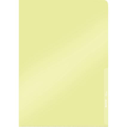 LEITZ Sichthülle Premium, A4, PVC, gelb, 0,15 mm