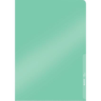 LEITZ Sichthülle Premium, A4, PVC, grün, 0,15 mm