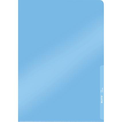 LEITZ Sichthülle Premium, A4, PVC, blau, 0,15 mm