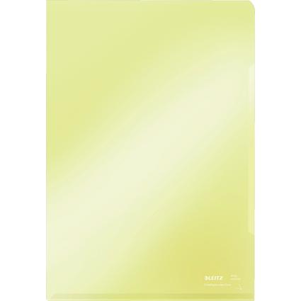 LEITZ Sichthülle Super Premium, A4, PVC, gelb, 0,15 mm