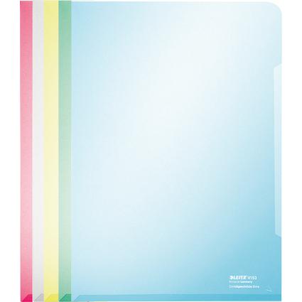 LEITZ Sichthülle Super Premium, A4, PVC, farbig sortiert