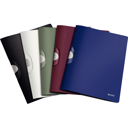 LEITZ Klemmhefter ColorClip Style, DIN A4, PP, satin-schwarz