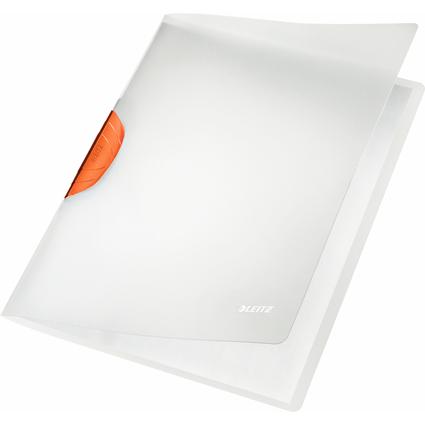 LEITZ Klemmhefter ColorClip Magic, DIN A4, PP, orange-