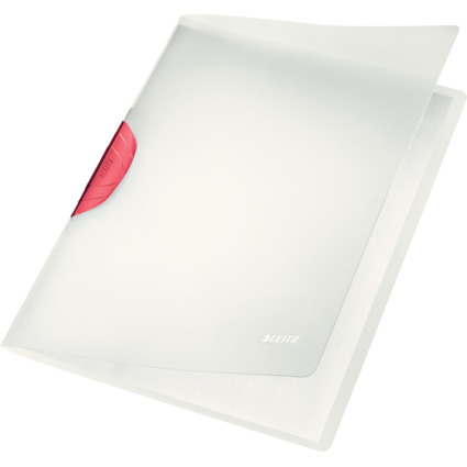 LEITZ Klemmhefter ColorClip Magic, DIN A4, PP, rot-