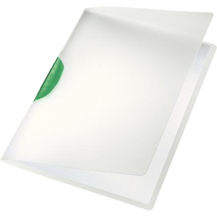 LEITZ Klemmhefter ColorClip, DIN A4, PP, grüner Clip