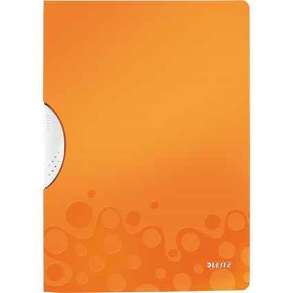 LEITZ Klemmhefter WOW ColorClip, DIN A4, PP, orange-metallic
