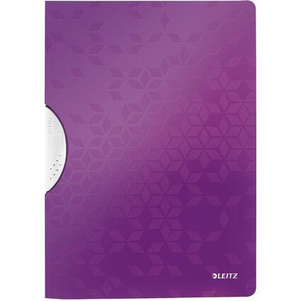 LEITZ Klemmhefter WOW ColorClip, DIN A4, PP, violett