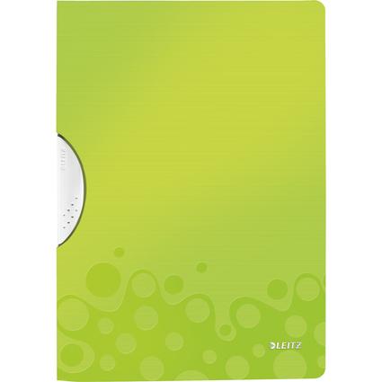LEITZ Klemmhefter WOW ColorClip, DIN A4, PP, grün-metallic