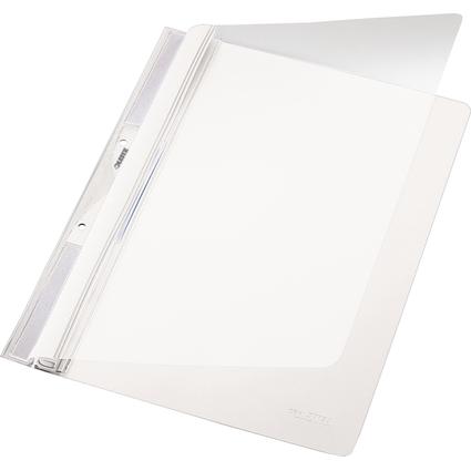 LEITZ Einhänge-Schnellhefter Universal, DIN A4, PVC, weiß
