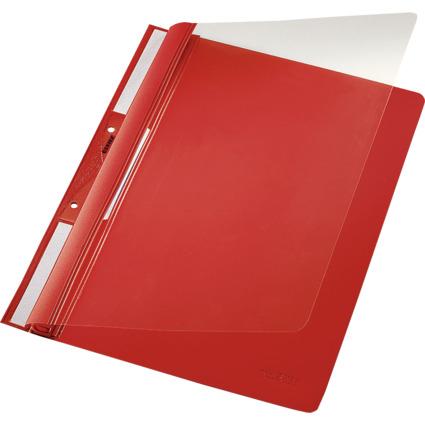 LEITZ Einhänge-Schnellhefter Universal, DIN A4, PVC, rot